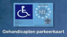 een gehandicaptenparkeerkaart